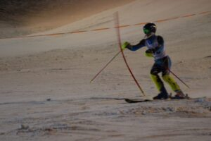 Slalomstange im Lauf