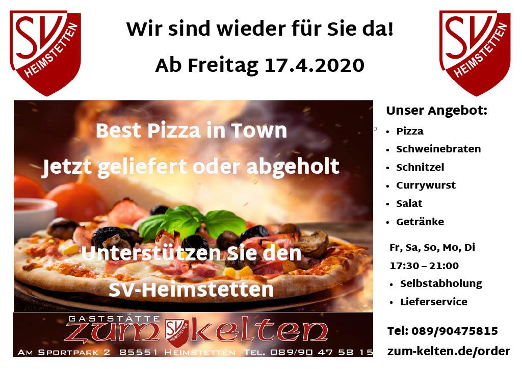 """Gaststätte """"Zum Kelten"""" öffnet wieder zum 17.04.!"""