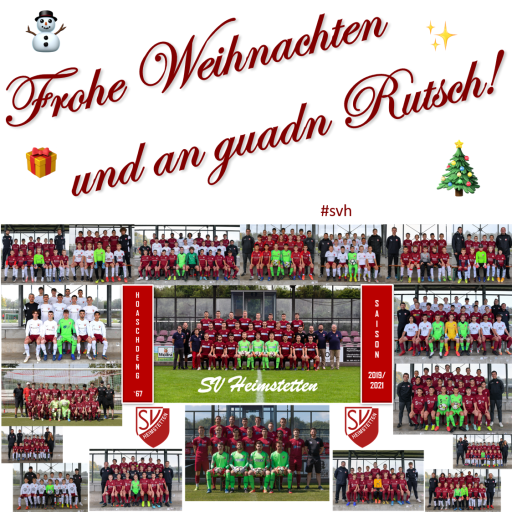SVH: Fröhliche Weihnachten und einen gesunden Start in das neue Jahr 2021!