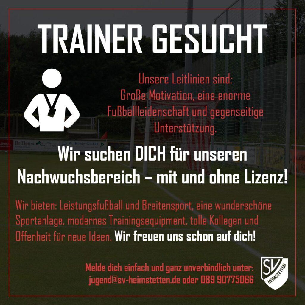 Jugend: Nachwuchstrainer*in für die Saison 2021/2022 gesucht